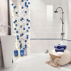Noua colectie Free Space! Placi ceramice pentru amenajari cu aspect modern in ton cu tendintele actuale. Free Space, Bathtub, Curtains, Shower, Bathroom, Modern, Prints, Decor, Standing Bath