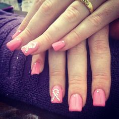 Breast cancer awareness nails by Fakeit Nails :) www.facebook.com/fakeit.andbeauty