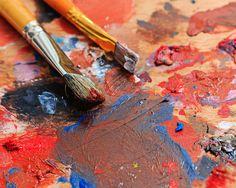 Brush and paint painter by Elena Vagengeim on @creativemarket
