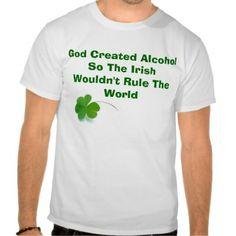 St Big and Tall T-shirt Patricks Day Funny Irish Today Hungover Tomorrow Tee
