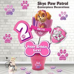 Skye Paw Patrol Birthday Decorations,Skye Large Centerpiece,Skye Paw Patrol Invitation,Paw Patrol Invitation,Skye Party Supplies,Skye Party by OhhLaLaTresChic on Etsy