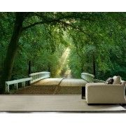 Discover a wide range of nature and landscape themed wall murals. Visit our online shop and select the ideal mural wallpaper for your home or business. Landscape Wallpaper, 3d Wall, Decoration, Bridge, Living Room, Nature, Decor, Naturaleza, Bridge Pattern
