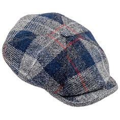 84b537888ad06 Sterkowski Harris Tweed 4 Panel Applejack Classic Flat Cap