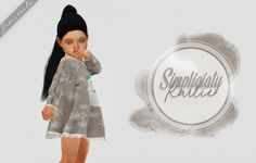 Simpliciaty`s Karlie dress – Toddler Version for The Sims 4