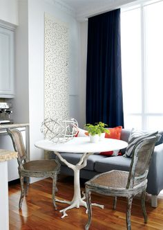 the table...the chairs..everything works! we would love to dine here via http://thedecorista.tumblr.com/post/17375774735