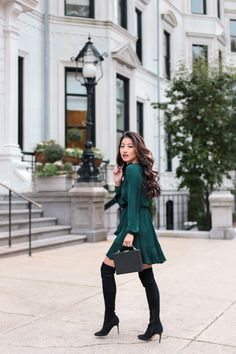 how to style over the knee boots for petite women