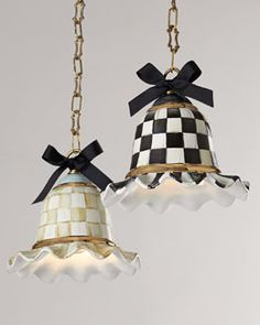 MacKenzie-Childs Parchment Check & Courtly Check Pendant Lamps - All For Decoration Pendant Lighting, Pendant Lamps, Bedroom Minimalist, Mackenzie Childs Inspired, Mckenzie And Childs, Cool Lamps, Lamp Makeover, Chandeliers, Painted Furniture
