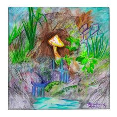 Mushroom Waterfall Binder - home gifts cool custom diy cyo