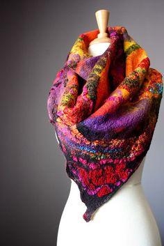 Nuno felted shawl/scarf