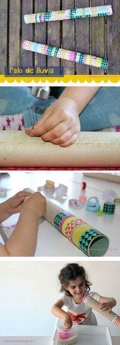 #palodelluvia #rainstick #diy #creakids #manualidades Music For Kids, Art For Kids, Rain Sticks, Kids Workshop, Summer Courses, Homemade Instruments, Diy Step By Step, Easy Crafts For Kids, School Fun