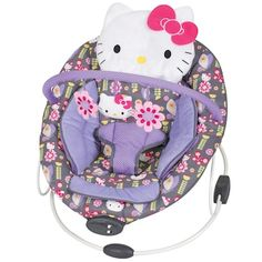 Keep your little love entertained with this Hello Kitty floral bouncer by Baby Trend, featuring interactive toys and calming vibrations. Sanrio Hello Kitty, Hello Kitty Nursery, Hello Kitty Baby Stuff, Baby Kitty, Toddler Exercise, Girls Furniture, Flower Dance, Baby Bouncer, Baby Swimming