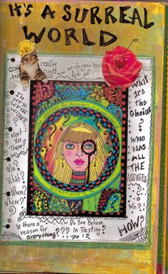 Original Art Journal Art Journal Zine Original  by DawnCollinsArt, $45.00