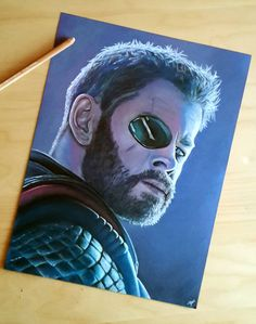 Pastel draw of from Marvel 😍😁 Pastel, Thor, Creations, Draw, Fictional Characters, Paint, Drawing Drawing, Cake, Sketches