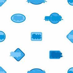 Boys Will Be Boys Thomas Icons Wallpaper-white/light blue/dark blue ZB3287