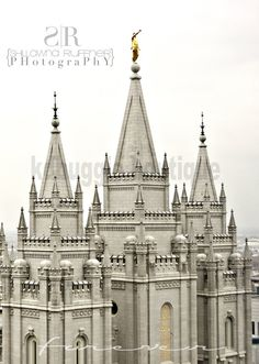 """Salt Lake City Temple Forever Picture - available as an instant download - .png file 5""""x7"""""""