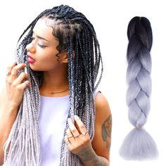 trendy braids with weave hairstyles black women hair products Grey Box Braids, Big Braids, Braids With Weave, Twist Braids, Twists, Fishtail Braids, Bob Box Braids Styles, Box Braids Styling, Braid Styles