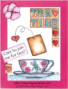 Tea Invitation with Lila Grey Stamps