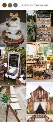 Fall Wedding Colors 2019 - Top 10 Color Combination Ideas You& Love . Fall Wedding Colors 2019 - Top 10 color combination ideas you& love, Rustic Neutral is a trendy color palette for . Bright Wedding Colors, Rustic Wedding Colors, Rustic Weddings, Romantic Weddings, Neutral Color Wedding, Winter Wedding Colors, Wedding Ceremony, Our Wedding, Dream Wedding