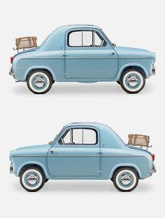 Vespa 400. Ok, it's not that little but it is little for a car.
