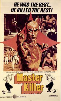 The Chamber of Shaolin (Shao Lin san shi liu fang, aka Master Killer) Hong Kong) Kung Fu Martial Arts, Martial Arts Movies, Der Leopard, Old School Movies, Cinema Posters, Movie Posters, Hong Kong Movie, Kung Fu Movies, Shaolin Kung Fu