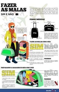 Na hora de viajar é essencial saber o que é permitido levar na bagagem de mão e na mala, além de consultar o peso de cada uma delas