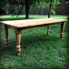 Inspired by a family trip to London, Clint built this table to resemble the old english style tables he saw while abroad.