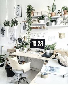 7 Whole Clever Tips: Minimalist Interior Concrete Woods minimalist living room decor home office. Home Office Design, Home Office Decor, Home Design Decor, Interior Design, Home Decor, Office Furniture, Furniture Design, Decorating Office, Workspace Design
