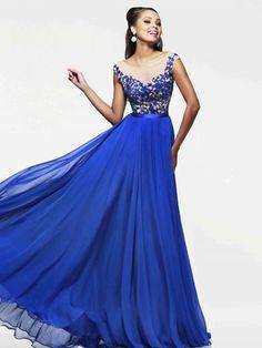 A-Line/Princess Bateau Sleeveless Applique Floor-Length Dresses