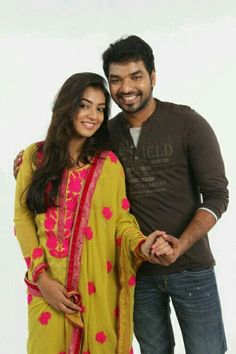 Nazriya and Jai in Thirumanam Ennum Nikkah Photo Shoot Romantic Couple Images, Romantic Couples, Cute Couples, Actor Picture, Actor Photo, Cute Love Pictures, Girl Pictures, Actor Jai, Wedding Couple Poses