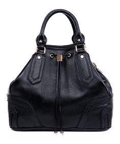Look at this #zulilyfind! Foley & Agamo Black Azura Leather Satchel by Foley & Agamo #zulilyfinds
