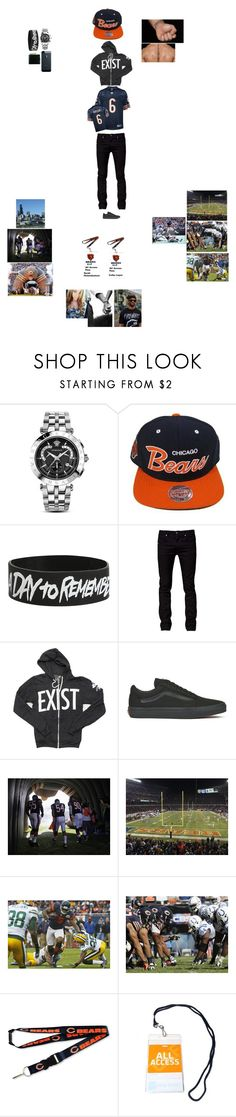 """Sarah & Colby Chicago Bears Game (Colby's Outfit)"" by wwetnagirl ❤ liked on Polyvore featuring Versace, Tiger of Sweden, Glamour Kills, Vans, aminco, Rico Industries, men's fashion and menswear"