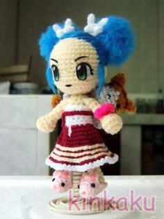 How to make eyes of my doll.   Anime Crochet Doll
