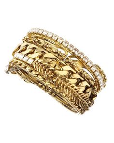 Chain-Crystal Cuff by RODRIGO OTAZU at Last Call by Neiman Marcus.