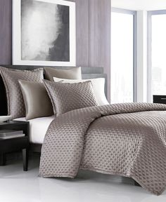 Hotel Collection Finest Silken Quilted Queen Coverlet, Only at Macy's