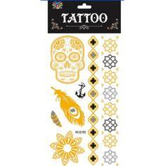 Big size Skull Flowers Back Waterproof Large Temporary Tattoo Sticker For Body Art fake tatoo sticker New women jewelry