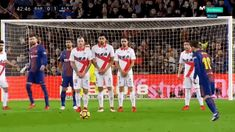 Check out Lionel Messi's free kick against Alaves - GIFs #messi #lionelmessi #messigifs