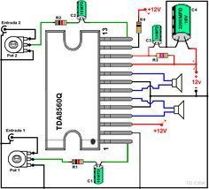 Dibujo del amplificador con TDA8560Q