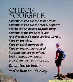 Check yourself. Some