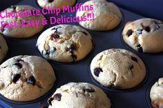 The most delicious chocolate chip muffin recipe ever!