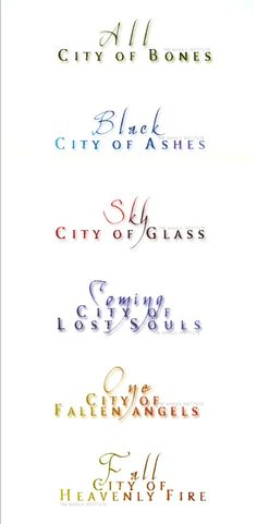 (Via The Manila Institute, MundieMoms Twitter) The last word of each Mortal Instruments by Cassandra Clare book. So interesting and fun to know.