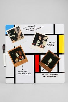 Urban Outfitters - Mondrian Magnetic Wipe-Off Board