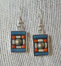 Mosaic earrings by NikkiSullivanMosaics on Etsy