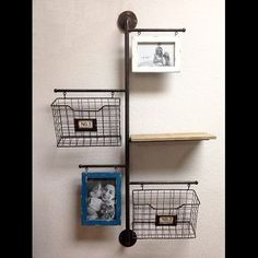 wilco home store it metal 2basket wall file organizer with 2 photo frame