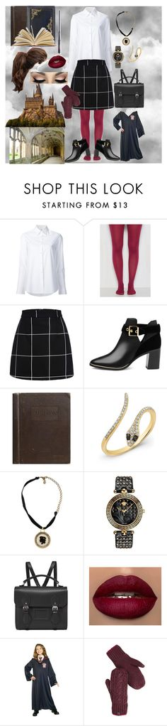 """Hogwarts school ootd"" by itsbrianasanders on Polyvore featuring Misha Nonoo, Ted Baker, Anne Sisteron, Lanvin, TAXI, Versace, The Cambridge Satchel Company and The North Face"