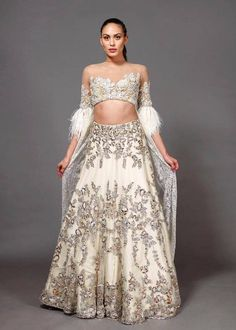 indian designer wear Ever wondered what do Manish Malhotra lehengas cost? Well, it costs a hand a leg and a bit more. Check out MM lehenga, saree, anarkali prices. Lehenga Skirt, Silk Lehenga, Anarkali, Indian Lehenga, Lehnga Dress, Sharara, Party Wear Lehenga, Bridal Lehenga, Bridal Gown