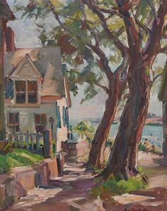 """""""King Street, Rockport,"""" Emile A Gruppe, oil on canvas, 20 x 16"""", private collection."""