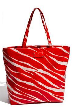 kate spade new york 'daycation - bon' coated canvas shopper
