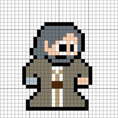 Luke Skywalker (The Force Awakens) Perler Bead Pattern