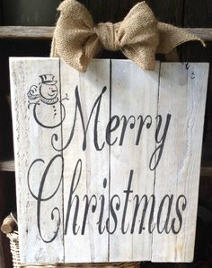 Merry Christmas, Snowman, Pallet Sign, Wooden Signs, Christmas Sign, Shabby Chic, Pallet Art, Door hanger