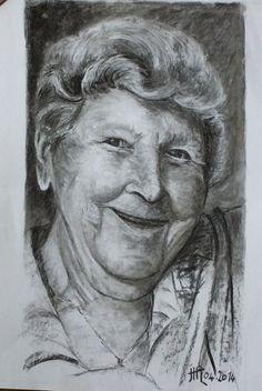 Marie-Jeanne - portrait au fusain